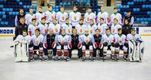 Az U16-os válogatott (Fotó: Magyar Jégkorong Szövetség)