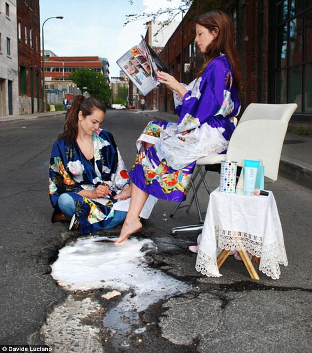 Rue Queen, Montréal - Rögtönzött szépségápolás