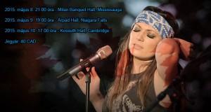 Rúzsa Magdi kanadai koncertturnéjának állomásai