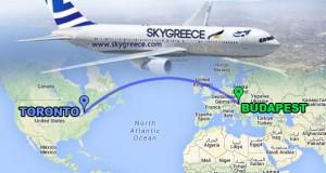 Az AirTransat után a SkyGreece is közvetlen légijáratot indít Torontó és Budapest között